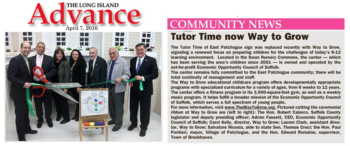 Official opening of the renamed Tutor Time - Now The Way To Grow