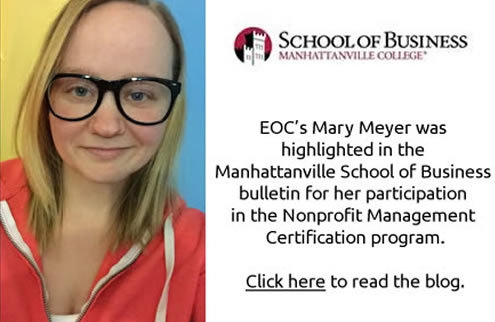Article about EOC employee Mary Meyer