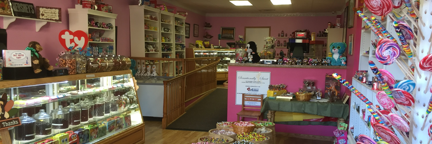 Retro candies and trendy sweets all in one place