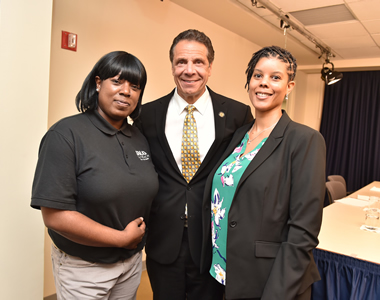 Photo of Debra Sterling with Gov. Cuomo